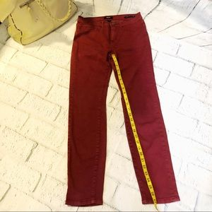 BDG high rise cigarette ankle wine color size 28